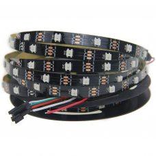 Светодиодная лента WS2812B, RGB, IP30, 30 Светодиодов/м, 5В, 1м, Черная подложка