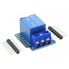 Модуль реле 1-канальный 12В, 10A / AC 250В для Wemos D1, D1 mini