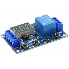 Модуль реле времени с задержкой XY-J02 LED 0.1с-999мин (5-30В, 10A / AC 250В)