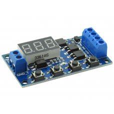 Модуль реле времени с задержкой XY-J04 LED 0.1с-999мин, 5-30В