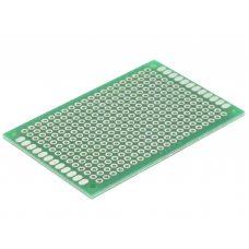 Монтажная макетная плата PCB 40x60мм, шаг 2.54мм, двухсторонняя