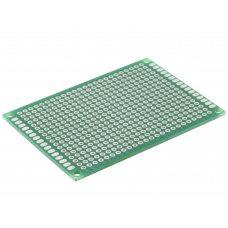 Монтажная макетная плата PCB 50x70мм, шаг 2.54мм, двухсторонняя