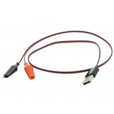 Переходник USB - зажимы, крокодилы, провод питания 60см