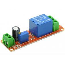 Таймер задержки NE555 отключения или включения 12В, 10A / AC 250В, 0-10 секунд