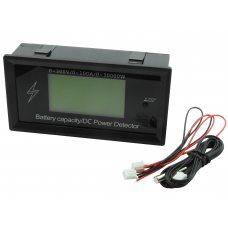 8 в 1; 0-300В, 0-100А Вольтметр, Амперметр, ВАТТметр, Измеритель емкости аккумуляторов, в корпусе