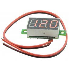 Вольтметр 0 - 32В, 0.36 LED, Красный