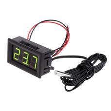 Цифровой термометр -50~110°C, DC 5-12В, с выносным датчиком, зеленый