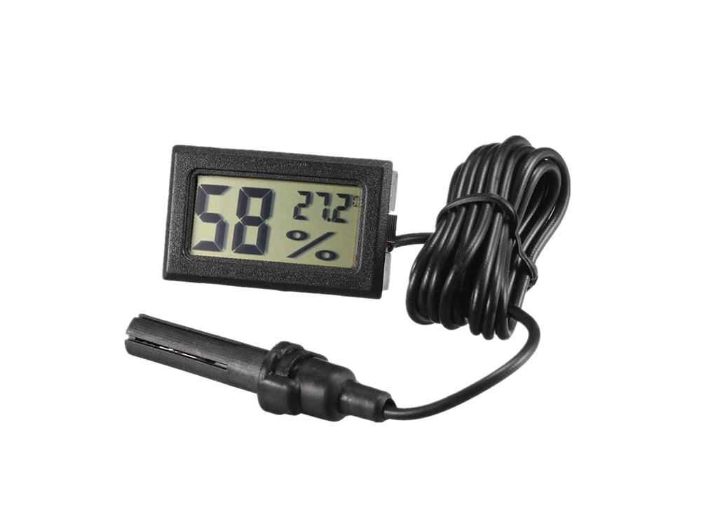 Цифровой термометр и влагомер -50~110°C с выносным датчиком (автономный с батарейками)