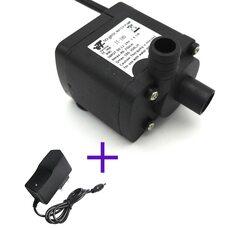 Водяной насос 5-12В 2,5М 350л/ч центробежный электрический погружной для воды с блоком питания
