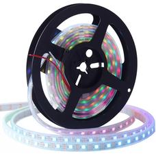 Светодиодная лента WS2812B, RGB, IP67, 60 Светодиодов/м, 5В, 1м, Белая подложка