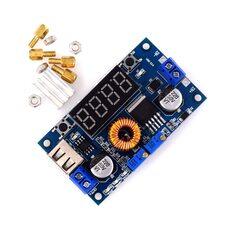 XL4015 5A Понижающий преобразователь c ампер/вольт/ватт метром, регулировка напряжения, тока