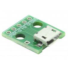 Плата переходник MicroUSB - DIP, 5pin, 2.54мм